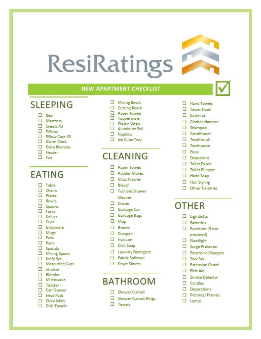 New Apartment Checklist 16
