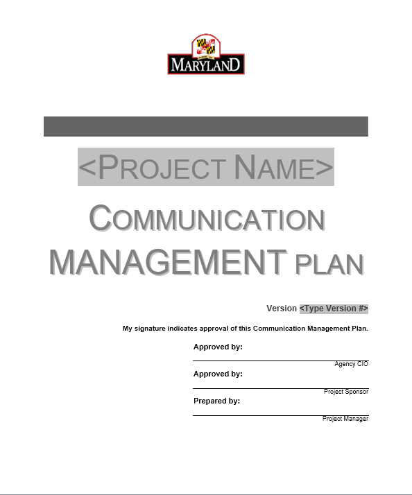 Communication Plan Template 001