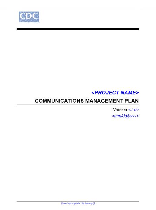 Communication Plan Template 003