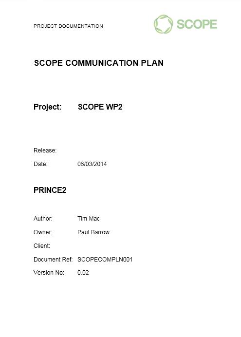 Communication Plan Template 012