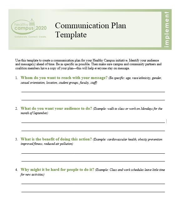 Communication Plan Template 016