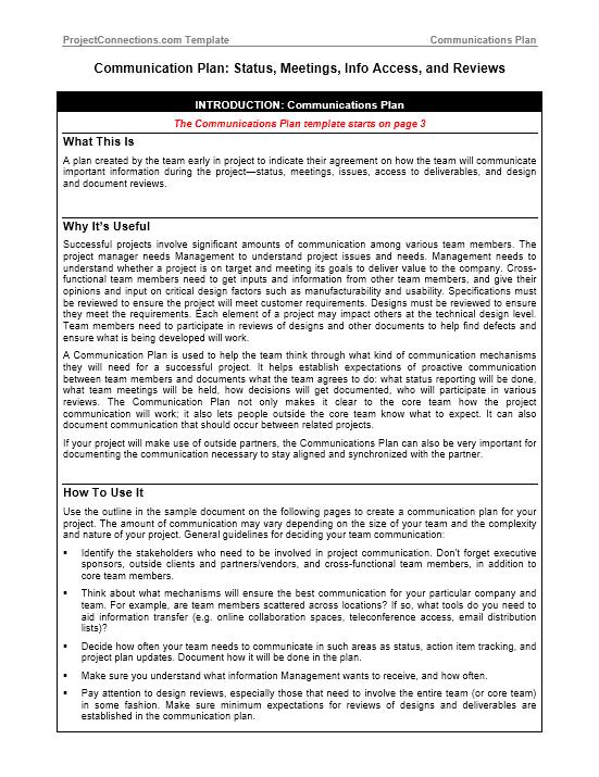 Communication Plan Template 024