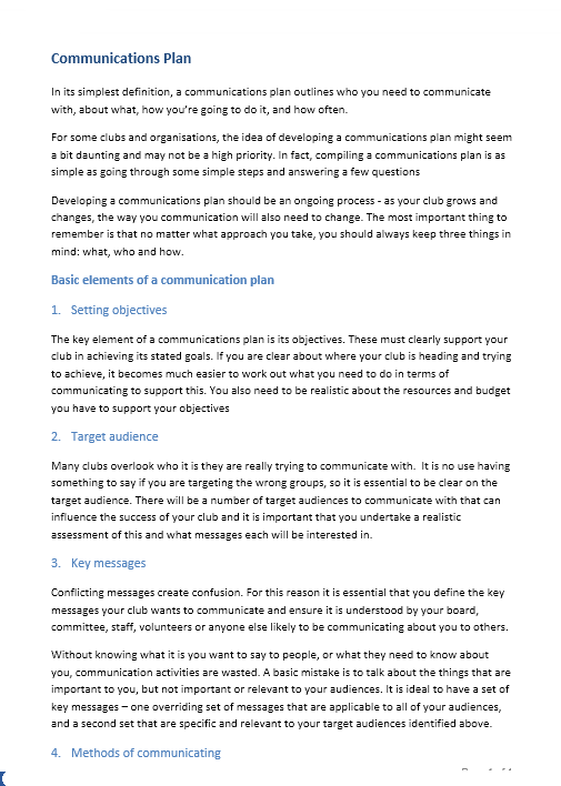 Communication Plan Template 029