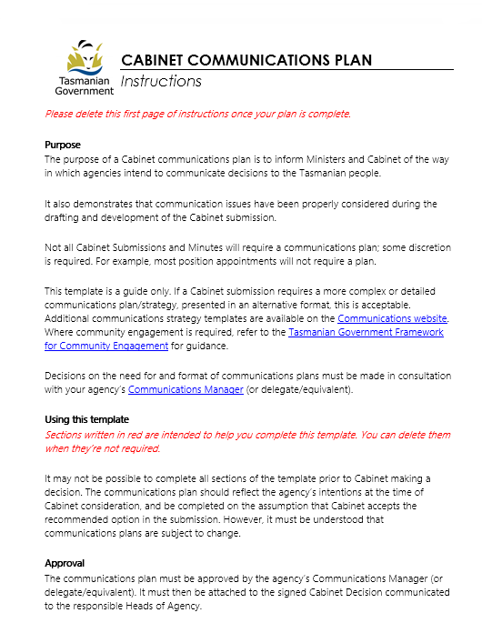 Communication Plan Template 031