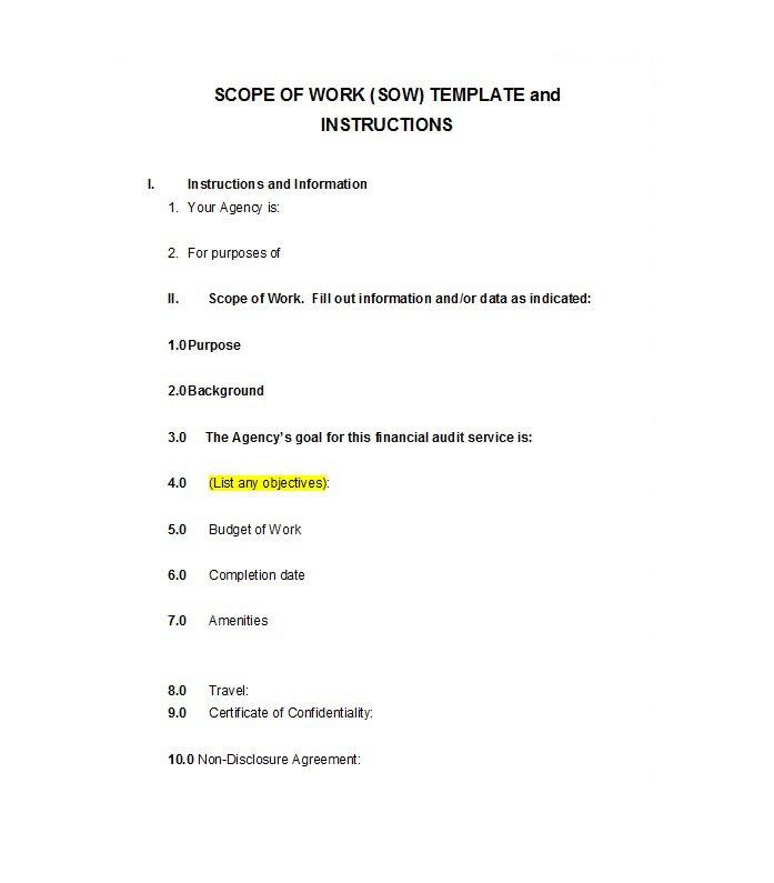 Scope of work template 012