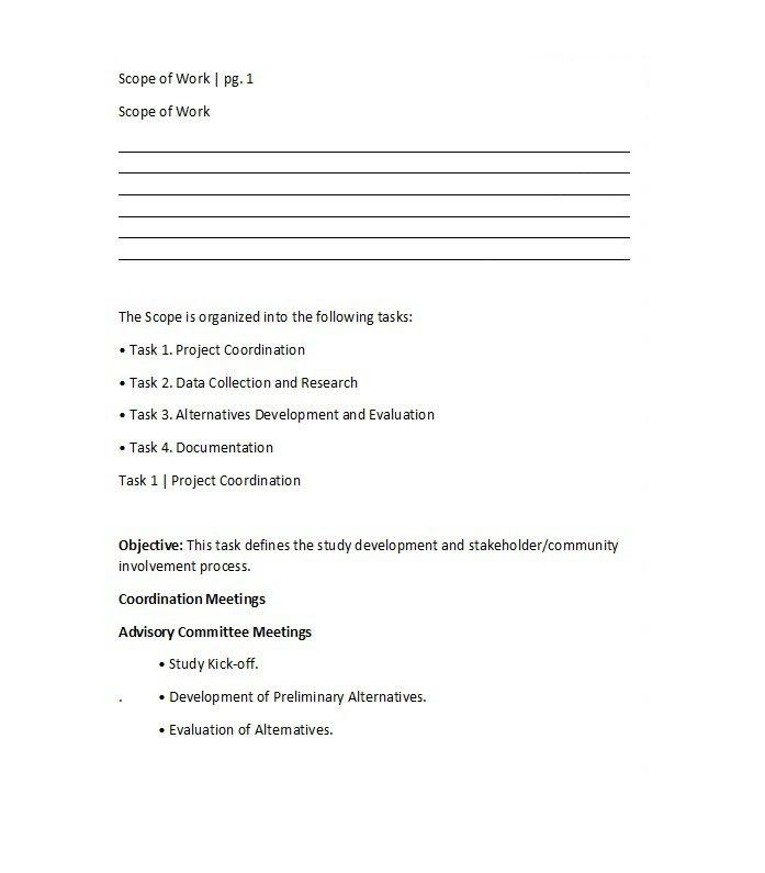 Scope of work template 013