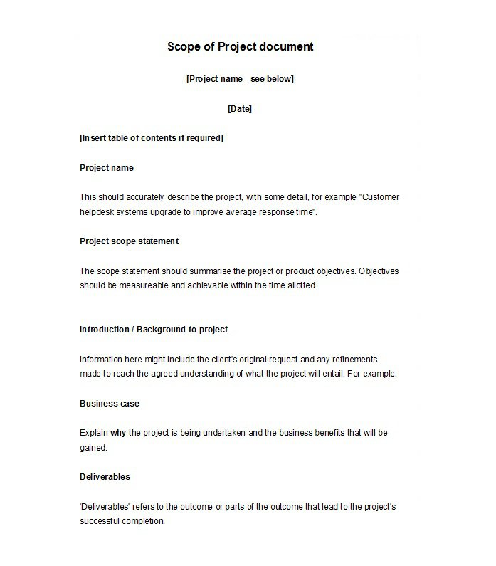 Scope of work template 018